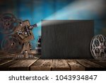 cinema concept of vintage film... | Shutterstock . vector #1043934847