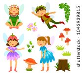 cute cartoon fairies of both... | Shutterstock .eps vector #1043939815