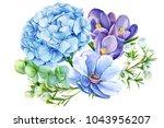 Bouquet Of Blue Flowers ...