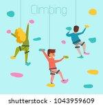 climbing. vector. cartoon.... | Shutterstock .eps vector #1043959609