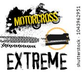 off road motorcycle elements... | Shutterstock .eps vector #1043962951