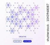 creative concept in honeycombs... | Shutterstock .eps vector #1043968087