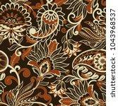 paisley seamless pattern.... | Shutterstock .eps vector #1043968537