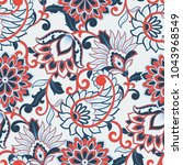 floral seamless pattern with... | Shutterstock .eps vector #1043968549