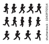 running vector sequence.... | Shutterstock .eps vector #1043970514