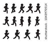 running vector sequence.... | Shutterstock .eps vector #1043970514