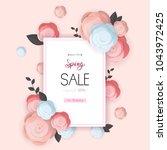 spring flower sale promotion...   Shutterstock .eps vector #1043972425
