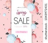 spring flower sale promotion...   Shutterstock .eps vector #1043972431