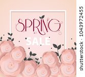 spring flower sale promotion...   Shutterstock .eps vector #1043972455