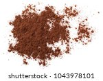 cocoa powder pile isolated on... | Shutterstock . vector #1043978101