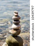 balanced stones on the sea | Shutterstock . vector #10439797