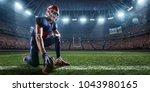 american football player in...   Shutterstock . vector #1043980165