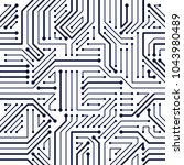 microchip board seamless... | Shutterstock .eps vector #1043980489