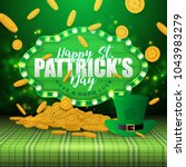 st.patrick's day greeting card | Shutterstock .eps vector #1043983279