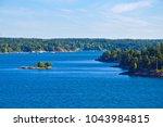 swedish settlements on islets... | Shutterstock . vector #1043984815