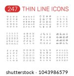 set of thin line icons... | Shutterstock .eps vector #1043986579