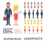front  side  back view... | Shutterstock .eps vector #1043993374