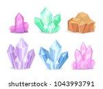 crystals realistic precious... | Shutterstock .eps vector #1043993791