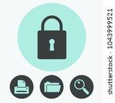 lock vector icon | Shutterstock .eps vector #1043999521