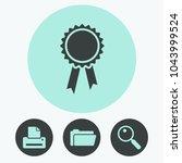 badge vector icon | Shutterstock .eps vector #1043999524