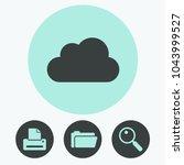 cloud vector icon | Shutterstock .eps vector #1043999527