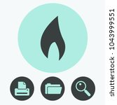 fire vector icon | Shutterstock .eps vector #1043999551