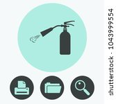 fire extinguisher vector icon | Shutterstock .eps vector #1043999554