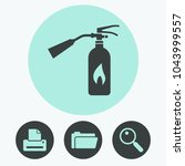 fire extinguisher vector icon | Shutterstock .eps vector #1043999557