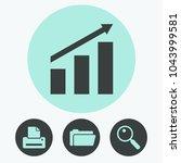 graph chart vector icon | Shutterstock .eps vector #1043999581