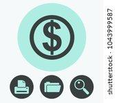 money vector icon | Shutterstock .eps vector #1043999587