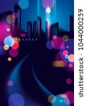 night city life with street... | Shutterstock .eps vector #1044000259