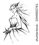 fashion line art  illustration | Shutterstock .eps vector #1044002761