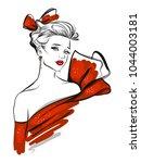 fashion line art  illustration   Shutterstock .eps vector #1044003181