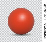 red pearl realistic isolated on ...   Shutterstock .eps vector #1044009085