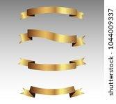 set of golden ribbons vector. | Shutterstock .eps vector #1044009337