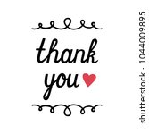 thank you hand drawn lettering... | Shutterstock .eps vector #1044009895