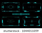hud futuristic user screen...