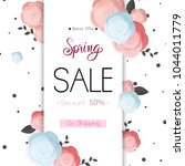spring flower sale promotion... | Shutterstock .eps vector #1044011779