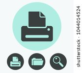 printer vector icon | Shutterstock .eps vector #1044014524