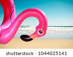 closeup of a swim ring in the... | Shutterstock . vector #1044025141