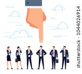 hr concept. the man's hand... | Shutterstock .eps vector #1044026914