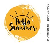 hello summer with the sun... | Shutterstock .eps vector #1044027919