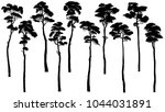 set of vector silhouettes of... | Shutterstock .eps vector #1044031891