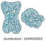 japanese cloud background for... | Shutterstock .eps vector #1044032005