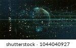 digital data earth   Shutterstock . vector #1044040927