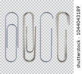 realistic paper clip set.... | Shutterstock .eps vector #1044043189