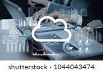 cloud computing concept. | Shutterstock . vector #1044043474