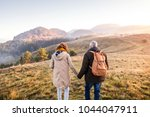 senior couple on a walk in an... | Shutterstock . vector #1044047911