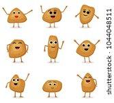 vector set of potatoes... | Shutterstock .eps vector #1044048511