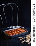 homemade brioche hamburger buns ... | Shutterstock . vector #1044054121